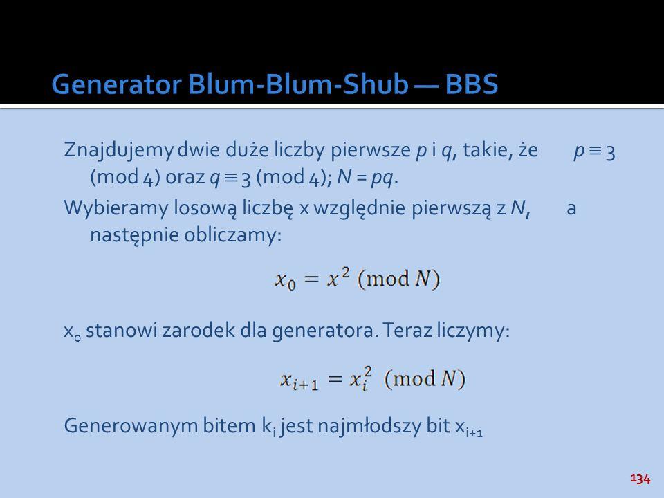 Generator Blum-Blum-Shub — BBS