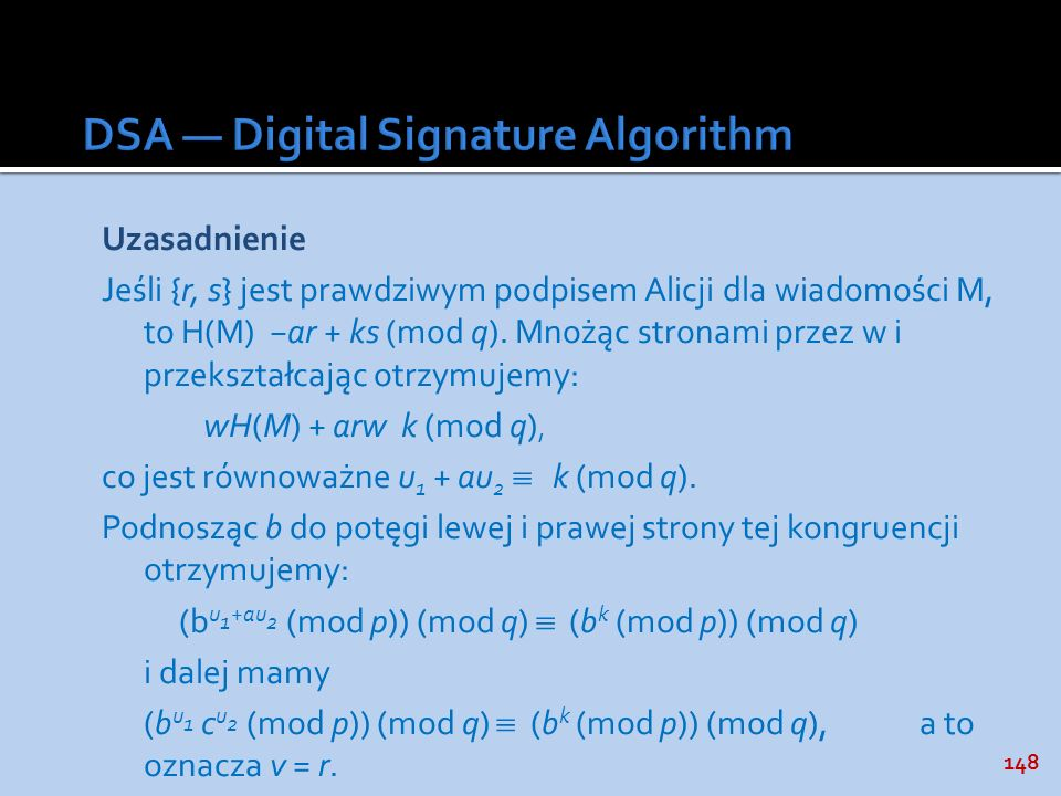 DSA — Digital Signature Algorithm