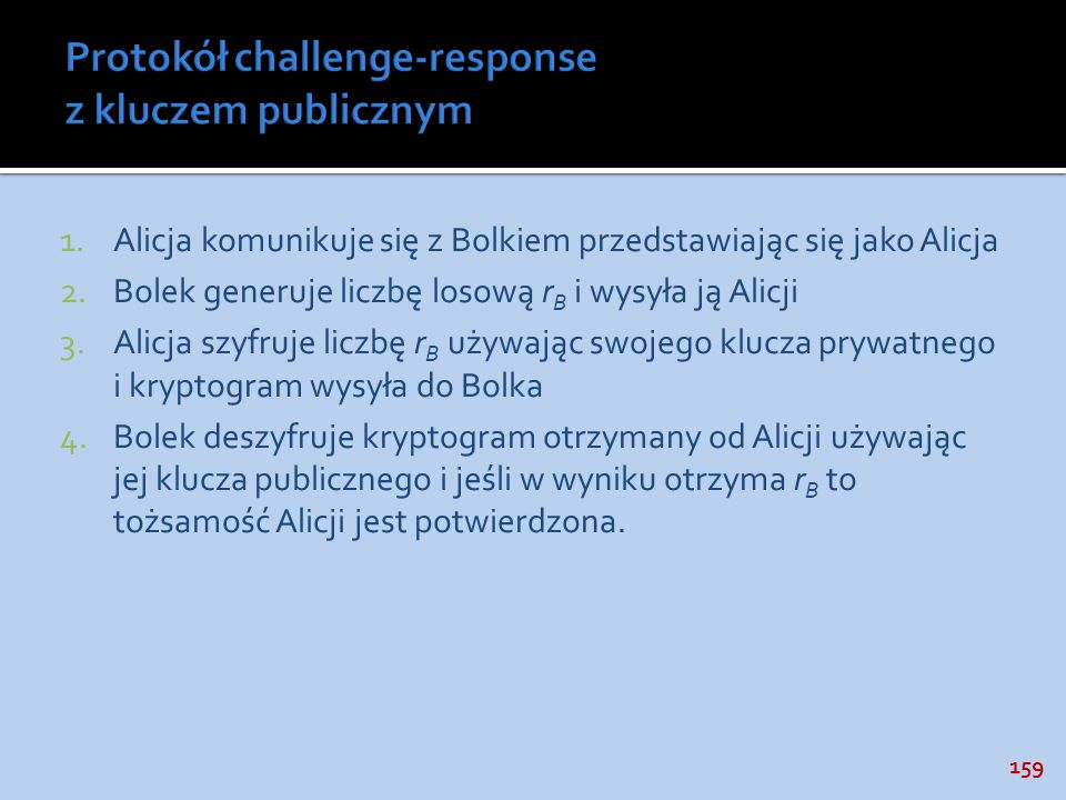 Protokół challenge-response z kluczem publicznym