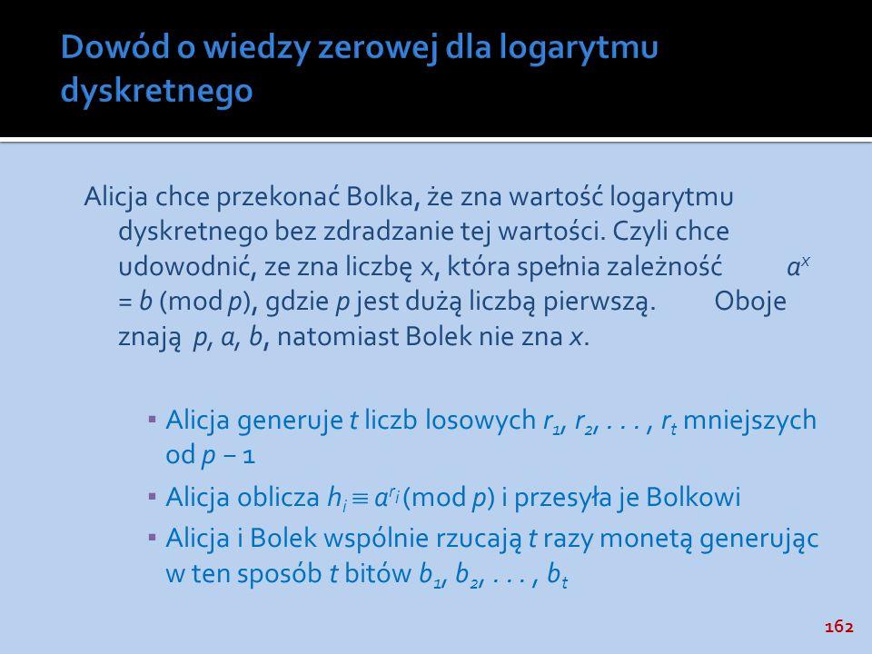 Dowód o wiedzy zerowej dla logarytmu dyskretnego