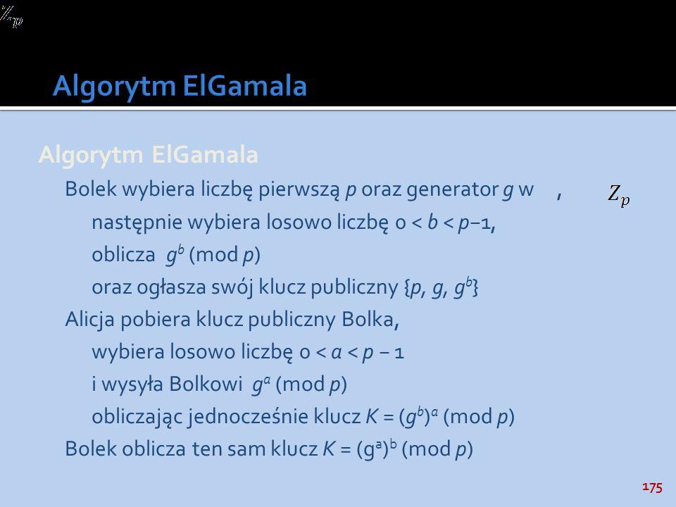 Algorytm ElGamala Algorytm ElGamala