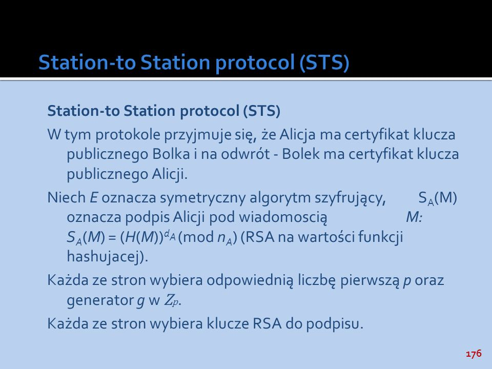 Station-to Station protocol (STS)