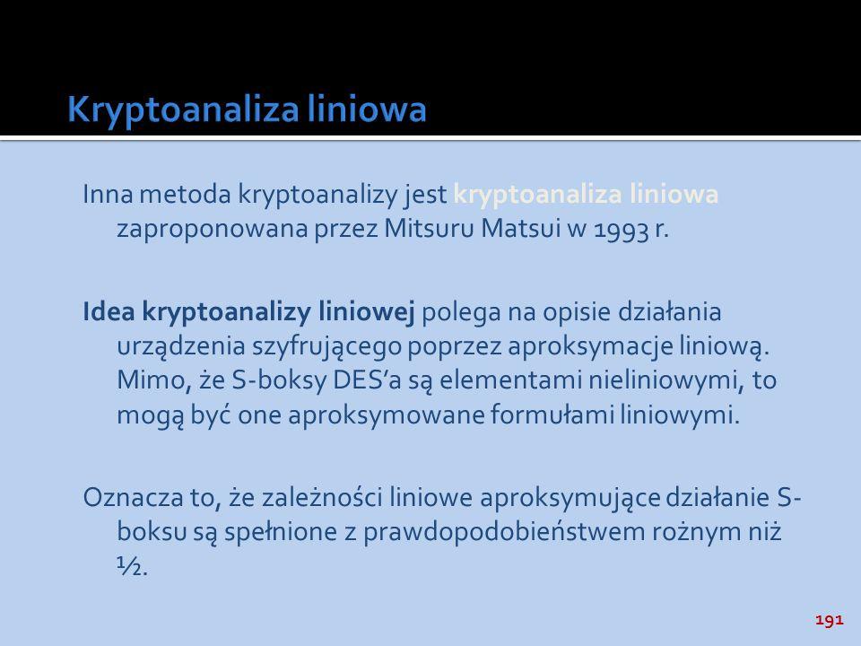 Kryptoanaliza liniowa