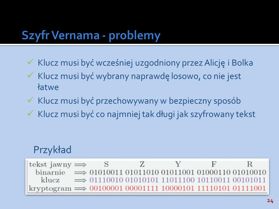 Szyfr Vernama - problemy