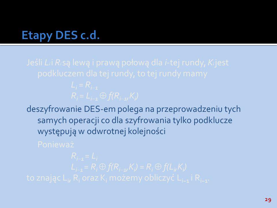 Etapy DES c.d.