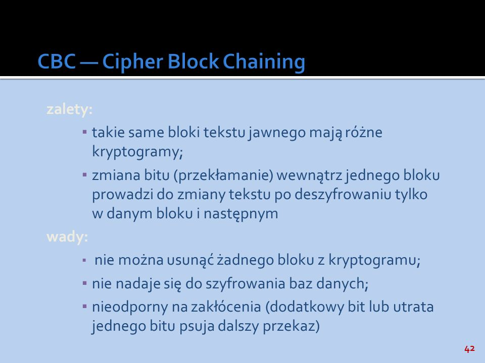 CBC — Cipher Block Chaining