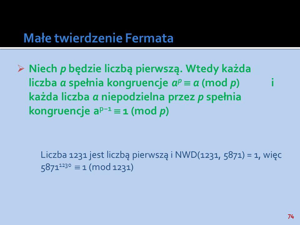 Małe twierdzenie Fermata
