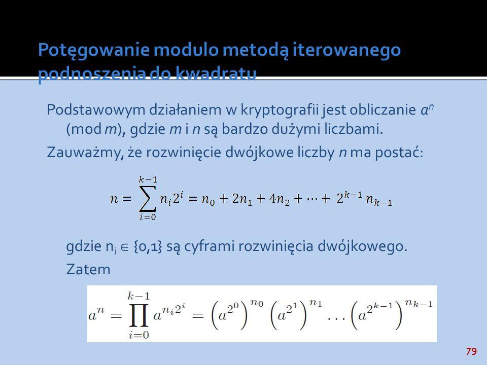 Potęgowanie modulo metodą iterowanego podnoszenia do kwadratu
