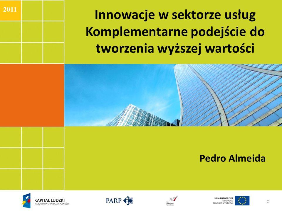 2011Innowacje w sektorze usług Komplementarne podejście do tworzenia wyższej wartości.