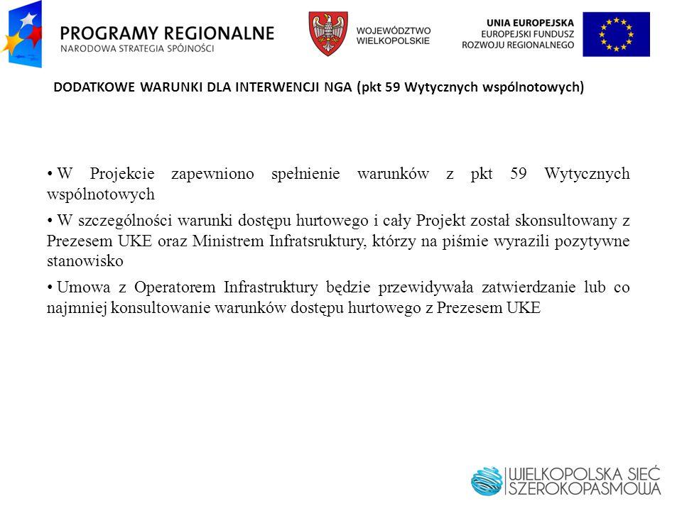 DODATKOWE WARUNKI DLA INTERWENCJI NGA (pkt 59 Wytycznych wspólnotowych)