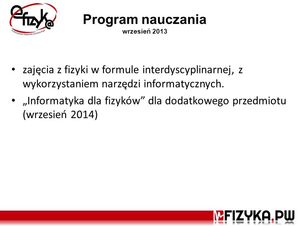 Program nauczania wrzesień 2013