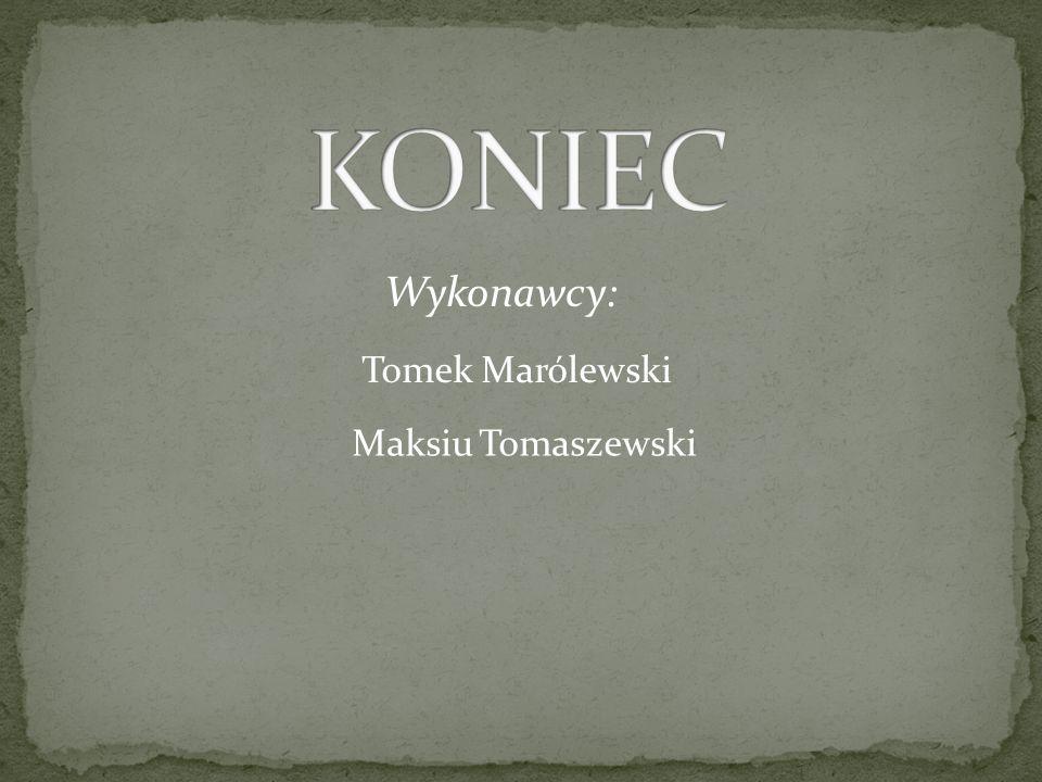 KONIEC Wykonawcy: Tomek Marólewski Maksiu Tomaszewski