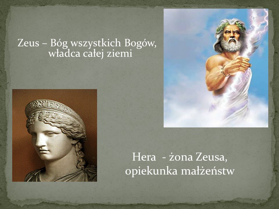 Hera - żona Zeusa, opiekunka małżeństw