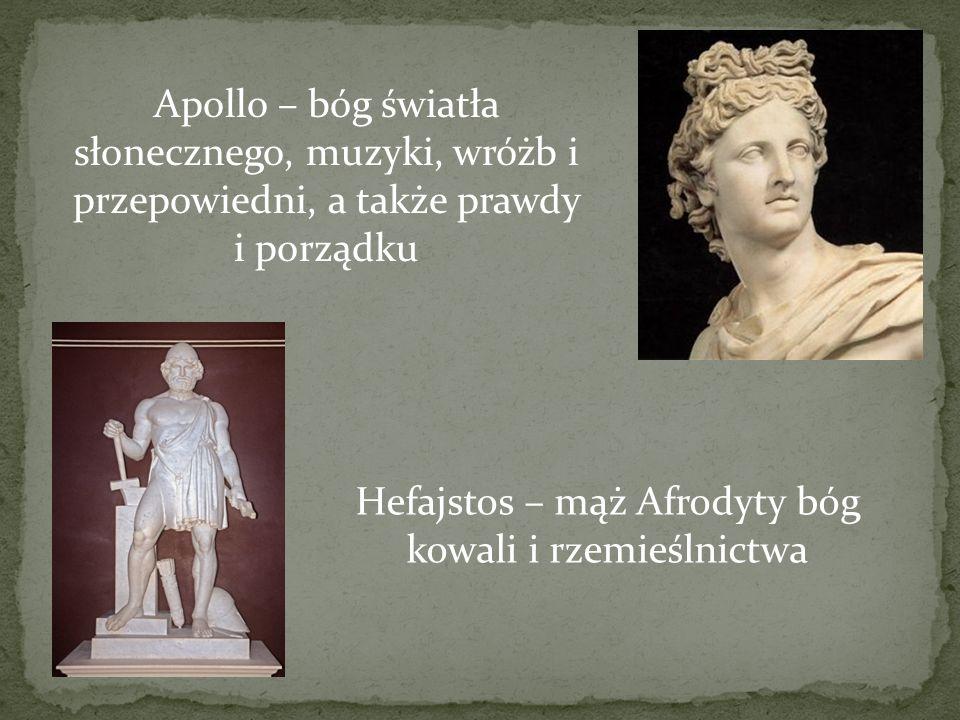 Hefajstos – mąż Afrodyty bóg kowali i rzemieślnictwa