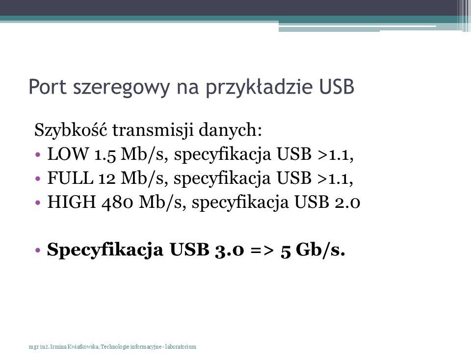 Port szeregowy na przykładzie USB