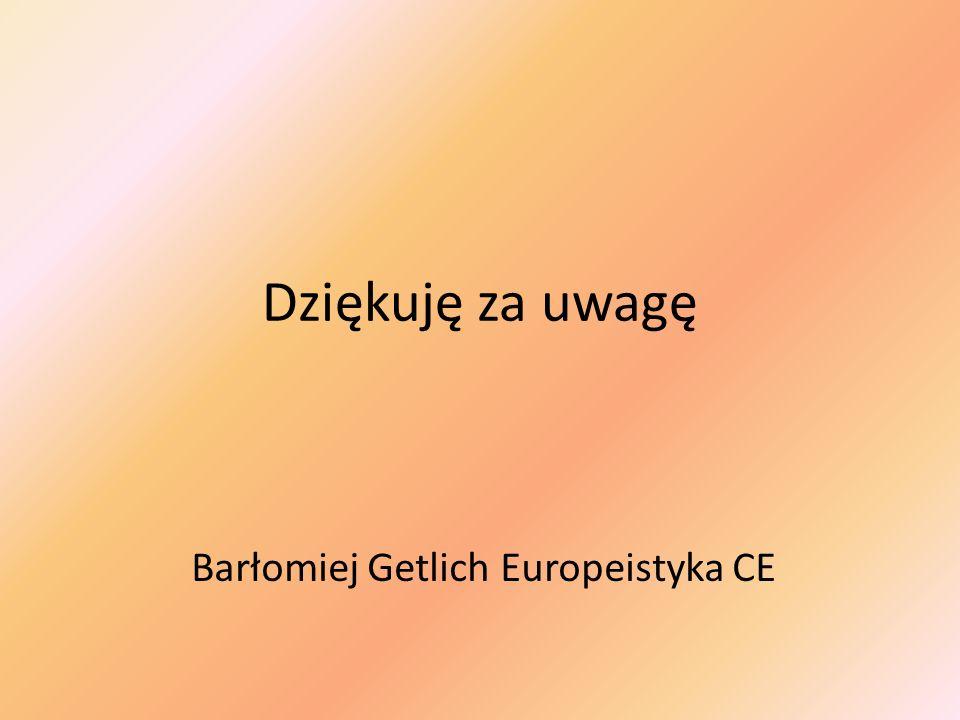 Barłomiej Getlich Europeistyka CE