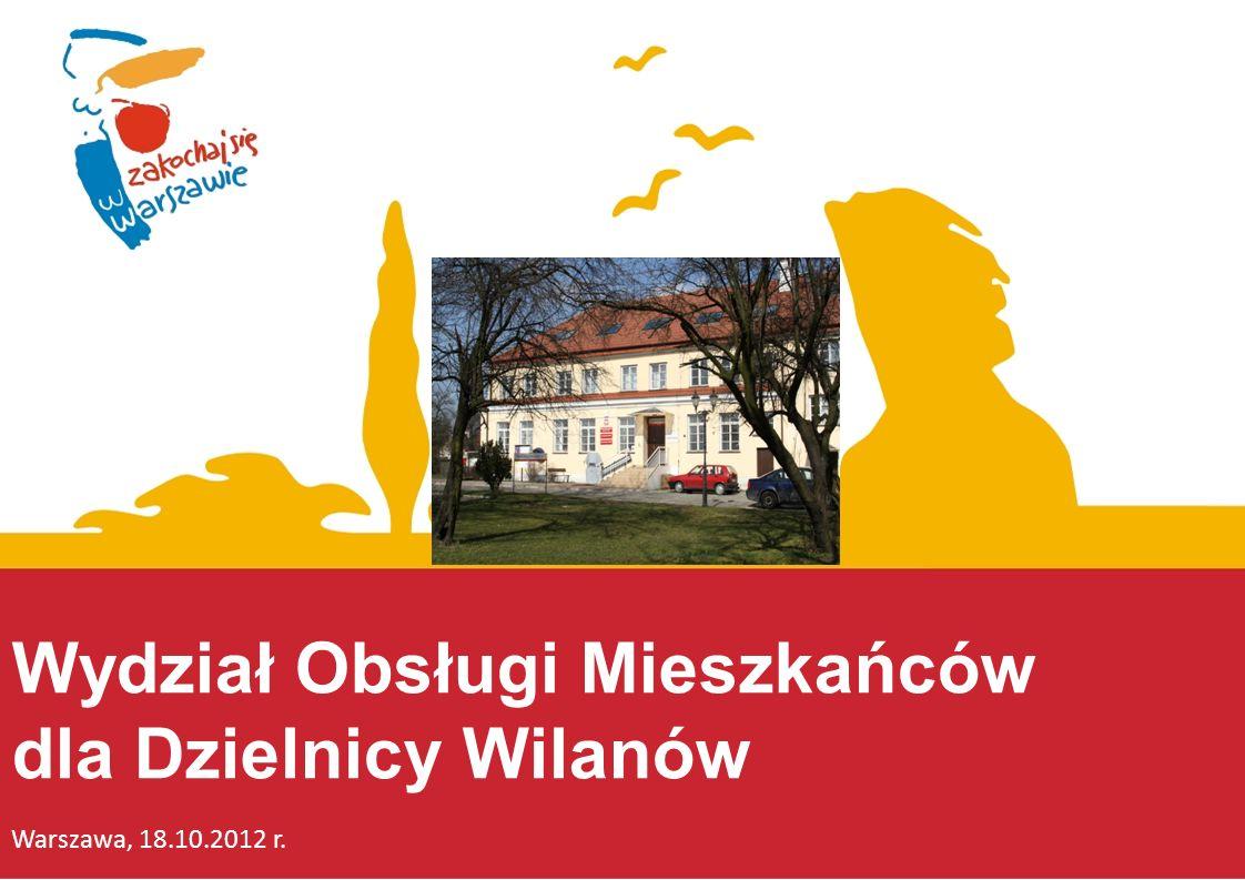 Wydział Obsługi Mieszkańców dla Dzielnicy Wilanów
