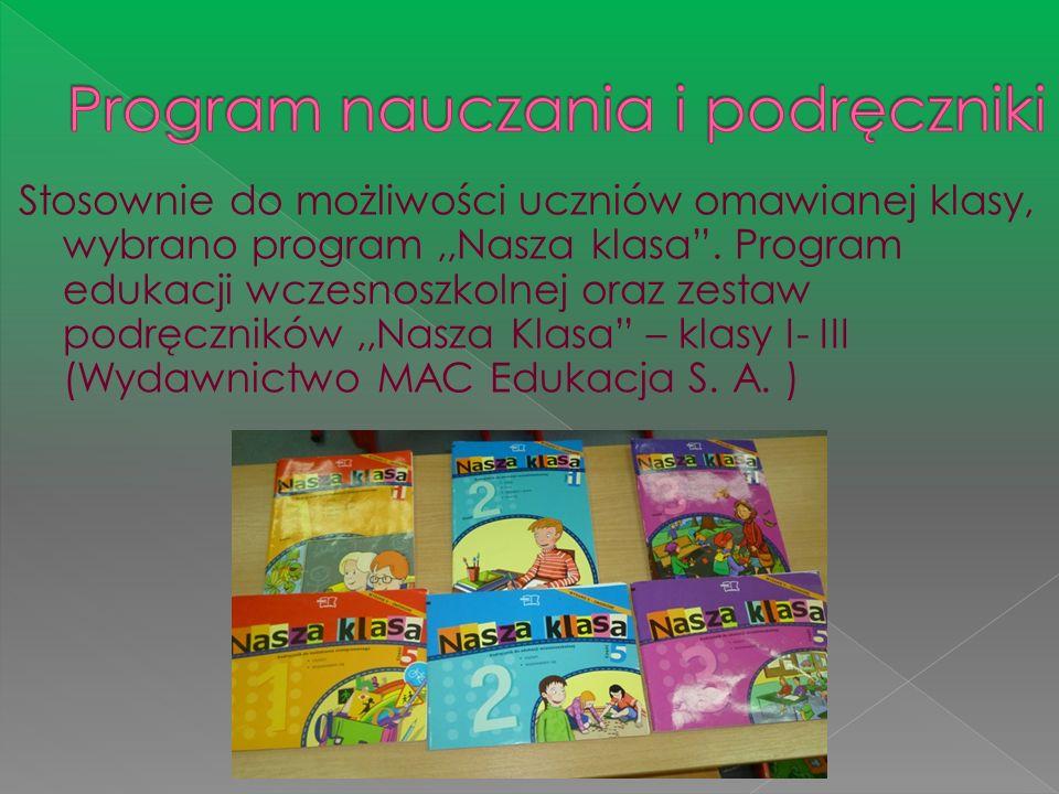 Program nauczania i podręczniki