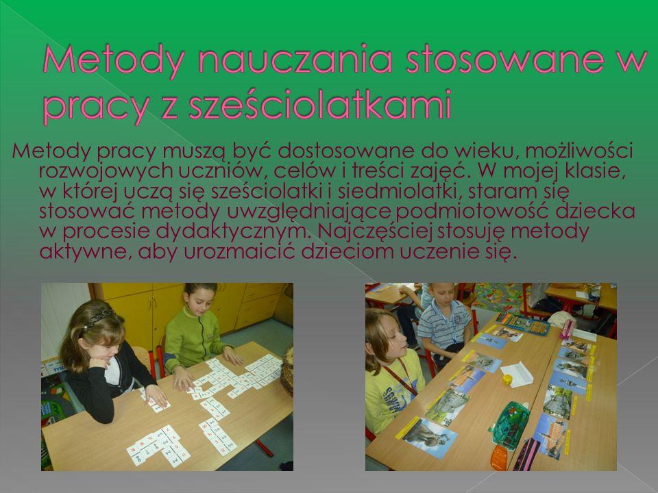 Metody nauczania stosowane w pracy z sześciolatkami