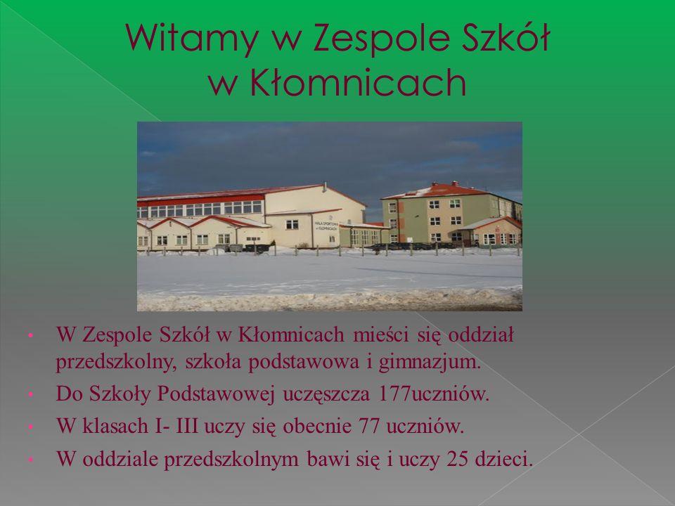 Witamy w Zespole Szkół w Kłomnicach