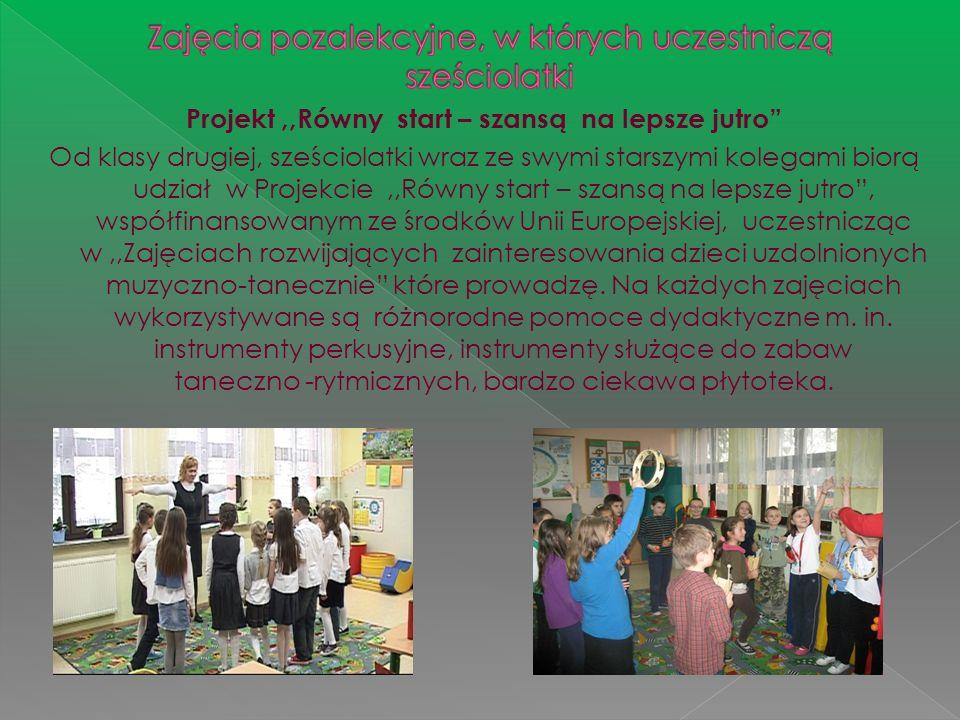 Zajęcia pozalekcyjne, w których uczestniczą sześciolatki