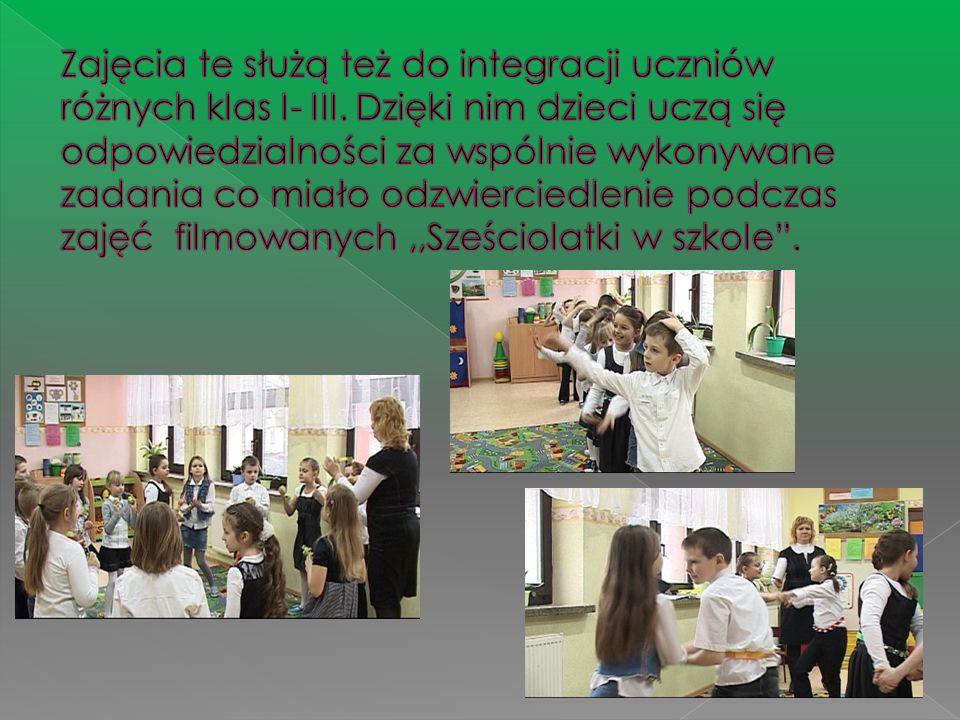 Zajęcia te służą też do integracji uczniów różnych klas I- III