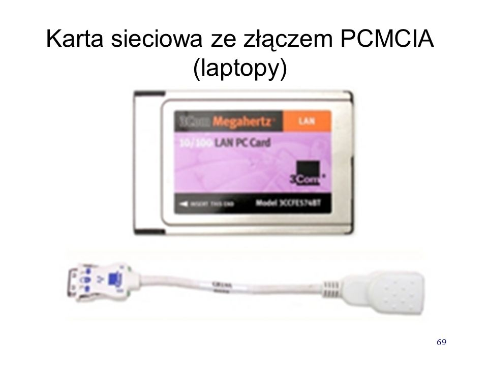 Karta sieciowa ze złączem PCMCIA (laptopy)