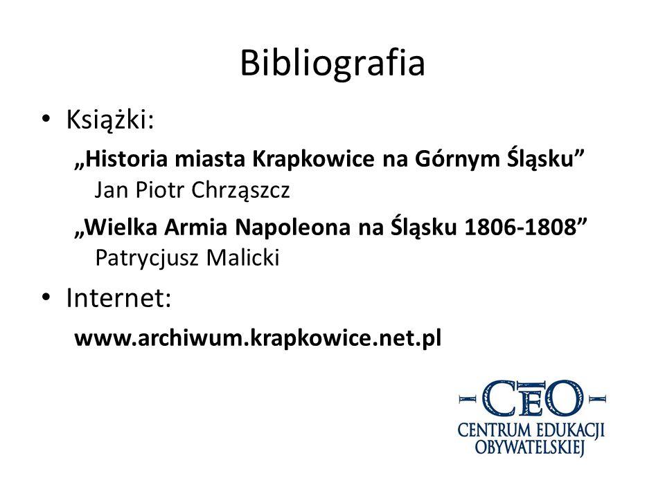 Bibliografia Książki: Internet: