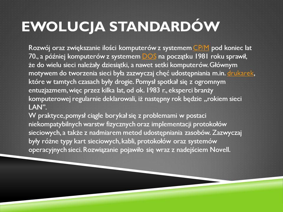 Ewolucja standardów