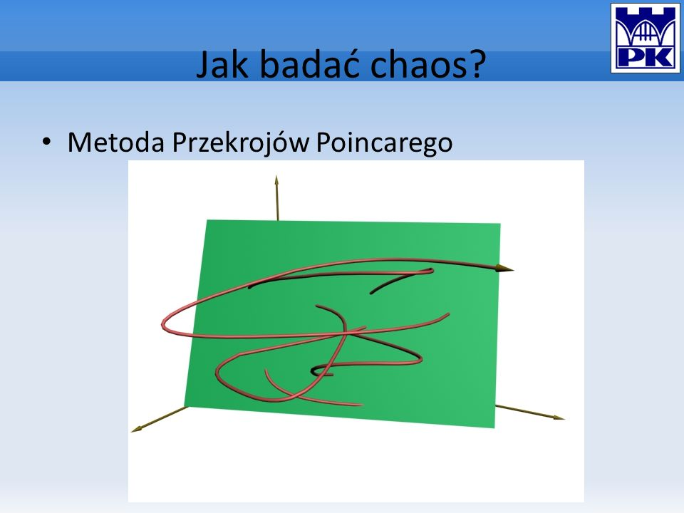 Jak badać chaos Metoda Przekrojów Poincarego