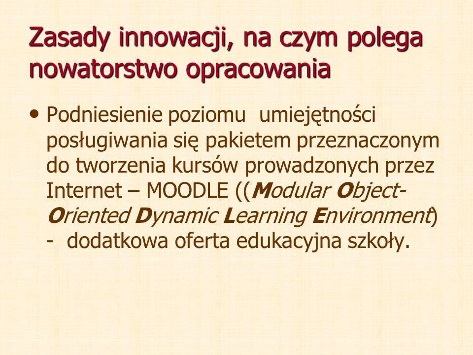 Zasady innowacji, na czym polega nowatorstwo opracowania