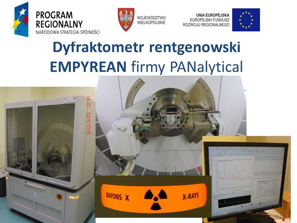 Dyfraktometr rentgenowski EMPYREAN firmy PANalytical