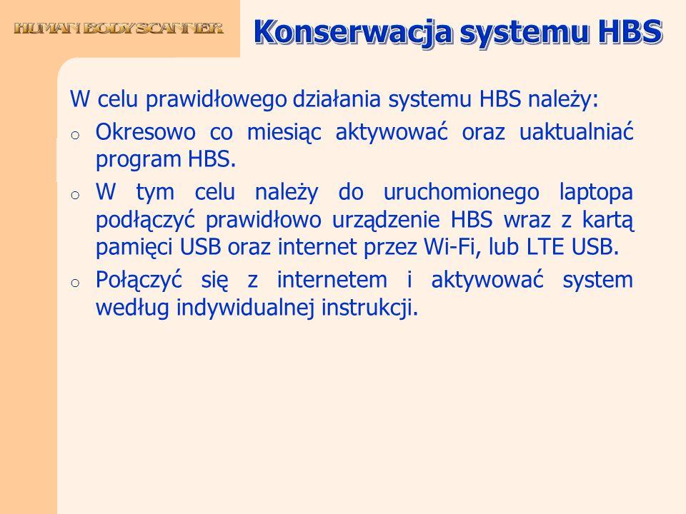 Konserwacja systemu HBS
