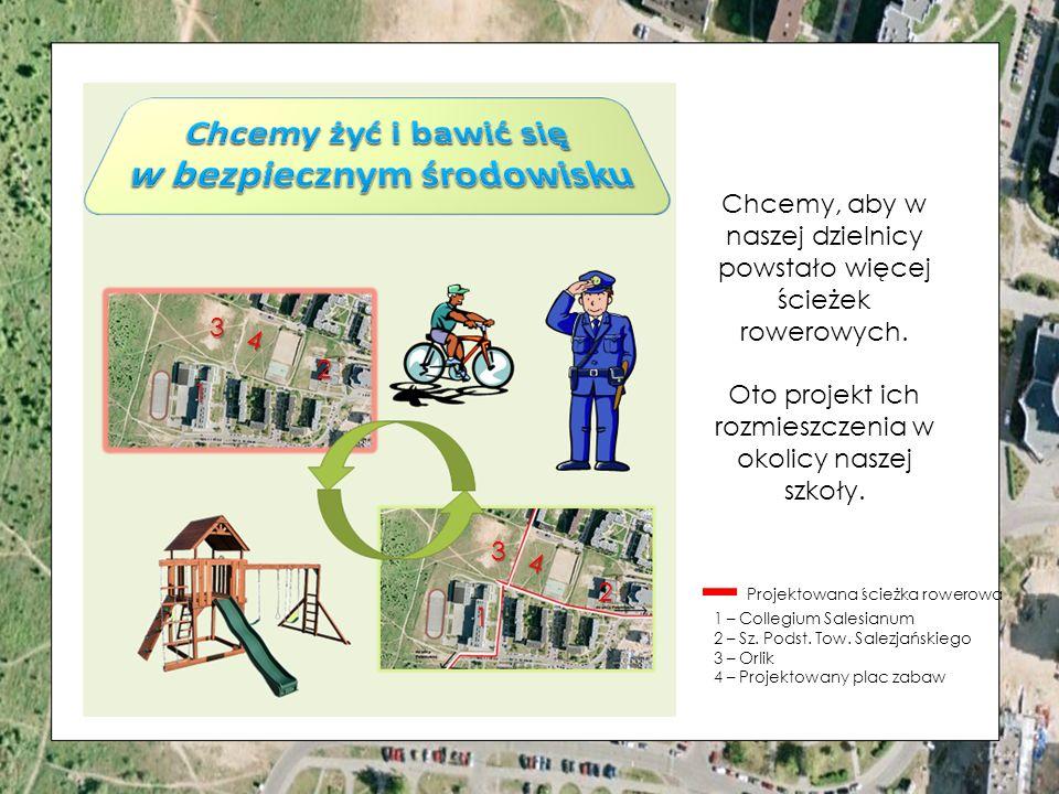 Chcemy, aby w naszej dzielnicy powstało więcej ścieżek rowerowych.