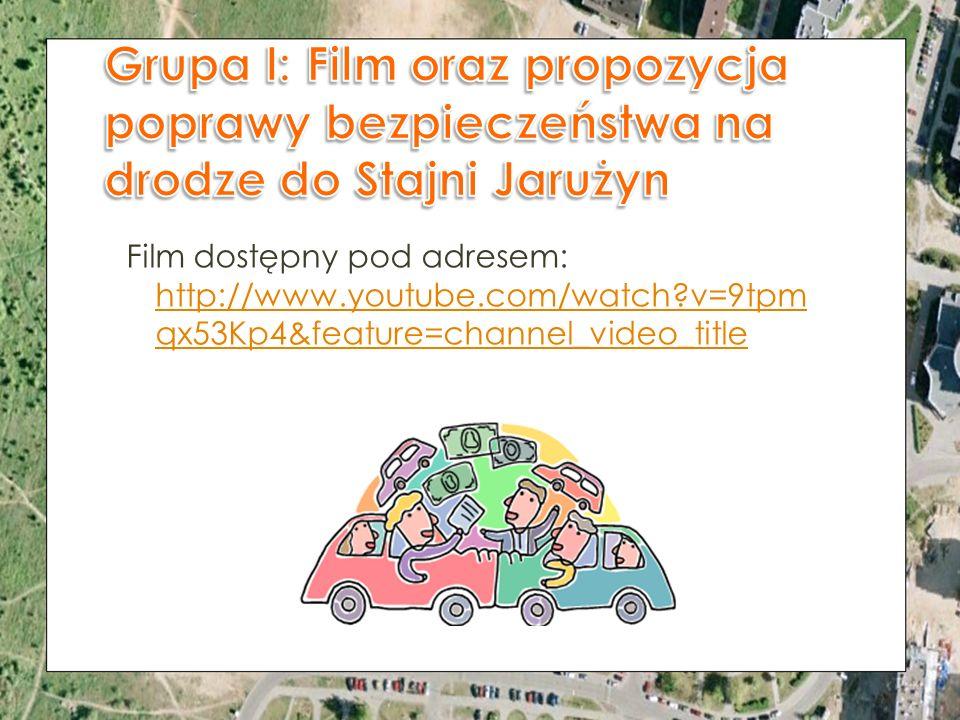Grupa I: Film oraz propozycja poprawy bezpieczeństwa na drodze do Stajni Jarużyn