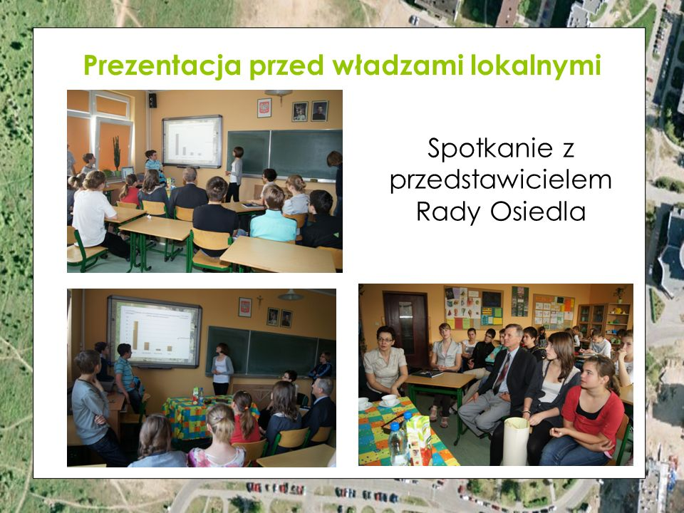 Prezentacja przed władzami lokalnymi