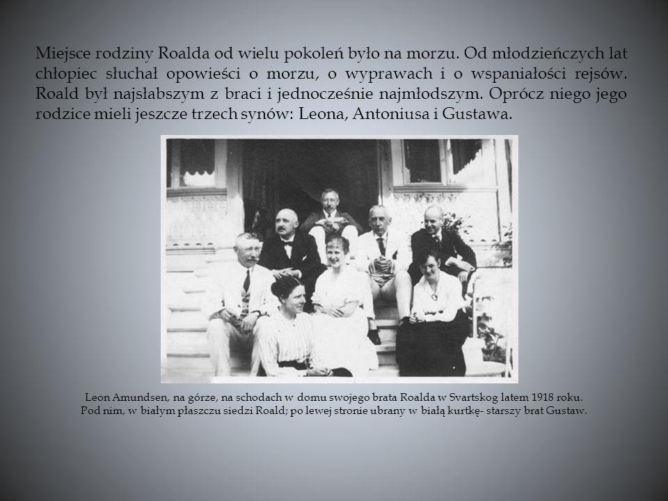 Miejsce rodziny Roalda od wielu pokoleń było na morzu