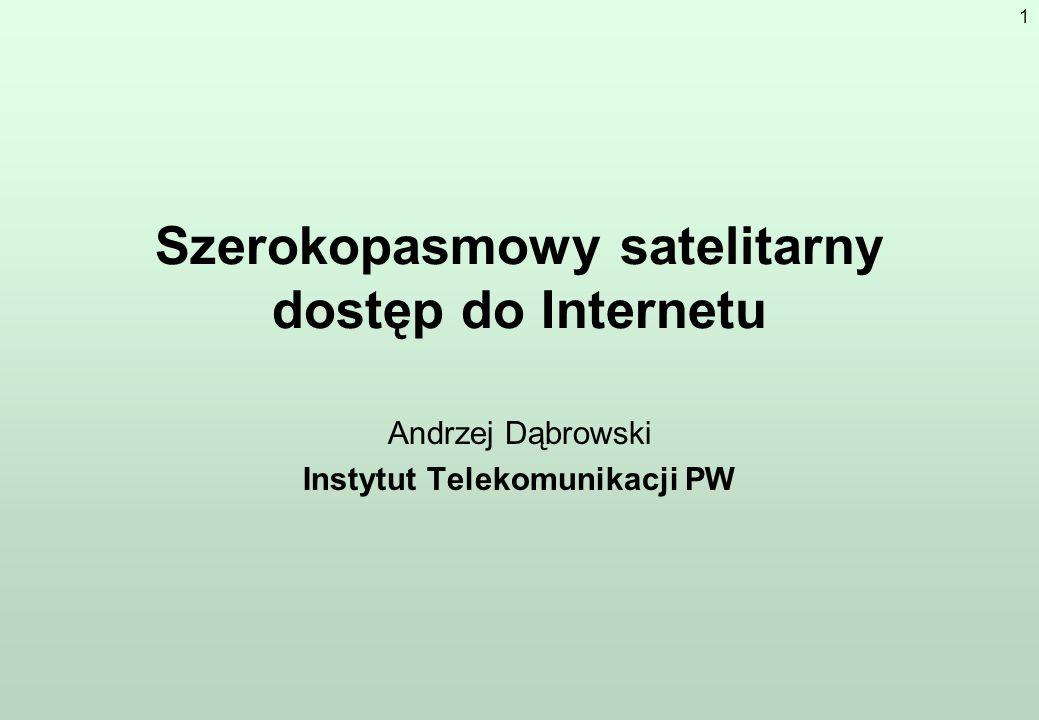 Szerokopasmowy satelitarny dostęp do Internetu