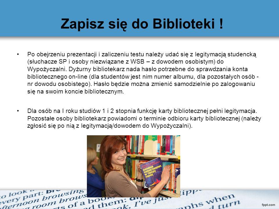 Zapisz się do Biblioteki !