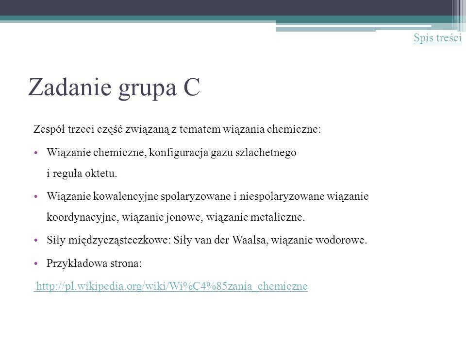 Zadanie grupa C Spis treści