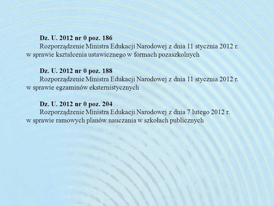 Dz. U. 2012 nr 0 poz. 186