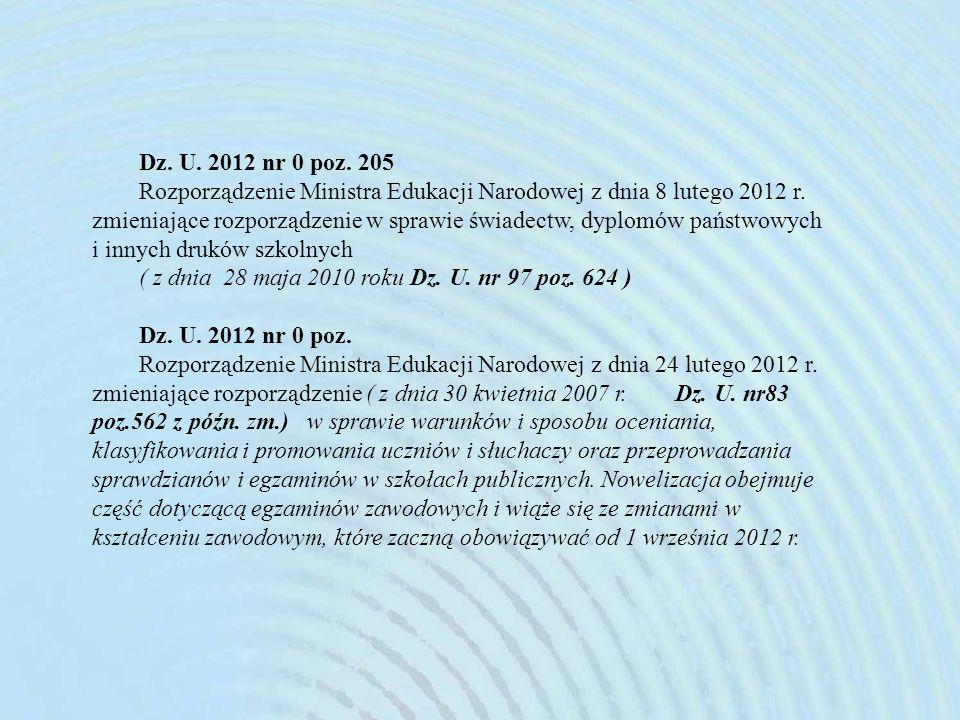 Dz. U. 2012 nr 0 poz. 205