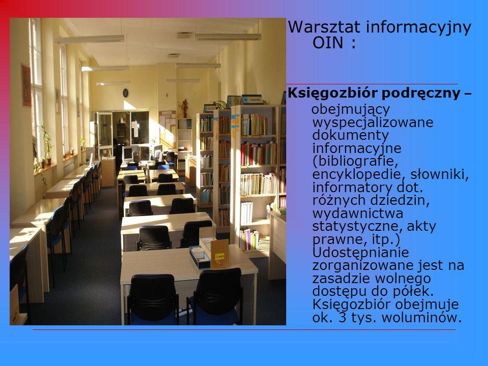 Warsztat informacyjny OIN :