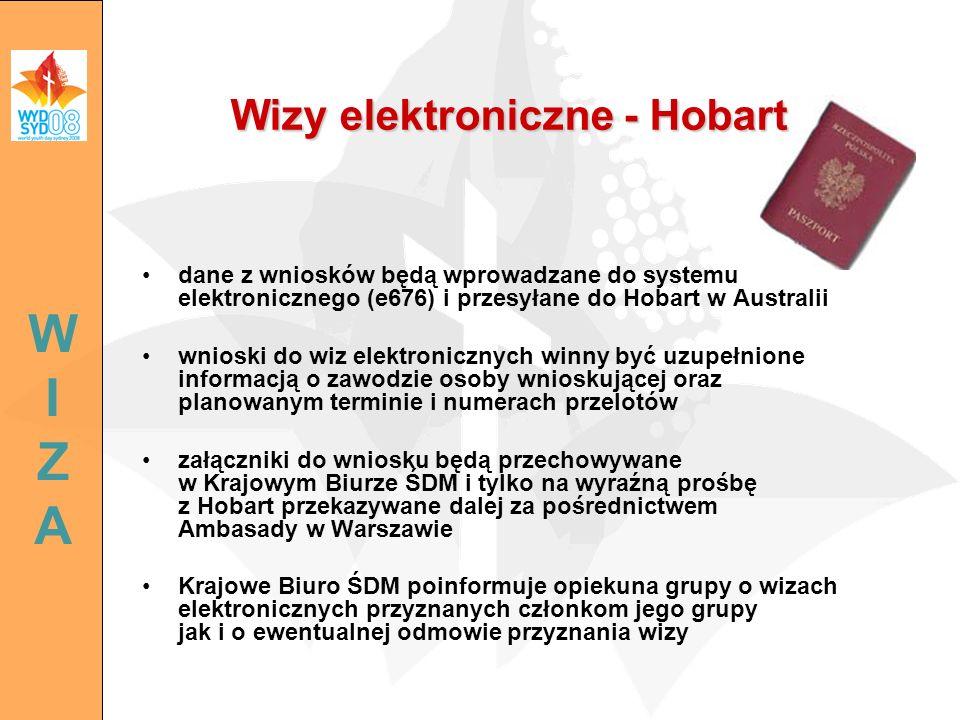 Wizy elektroniczne - Hobart