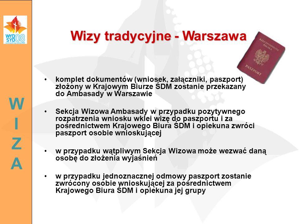 Wizy tradycyjne - Warszawa