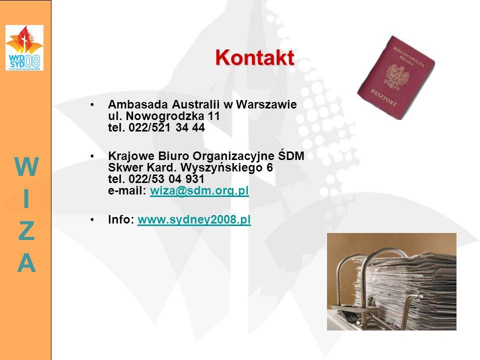 Kontakt Ambasada Australii w Warszawie ul. Nowogrodzka 11 tel. 022/521 34 44.