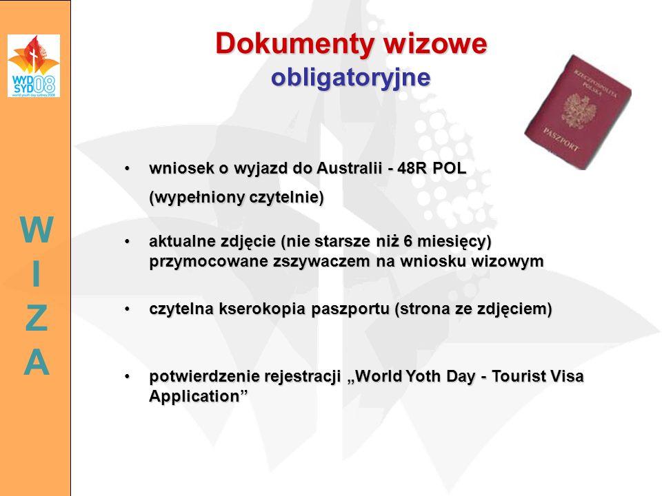 Dokumenty wizowe obligatoryjne
