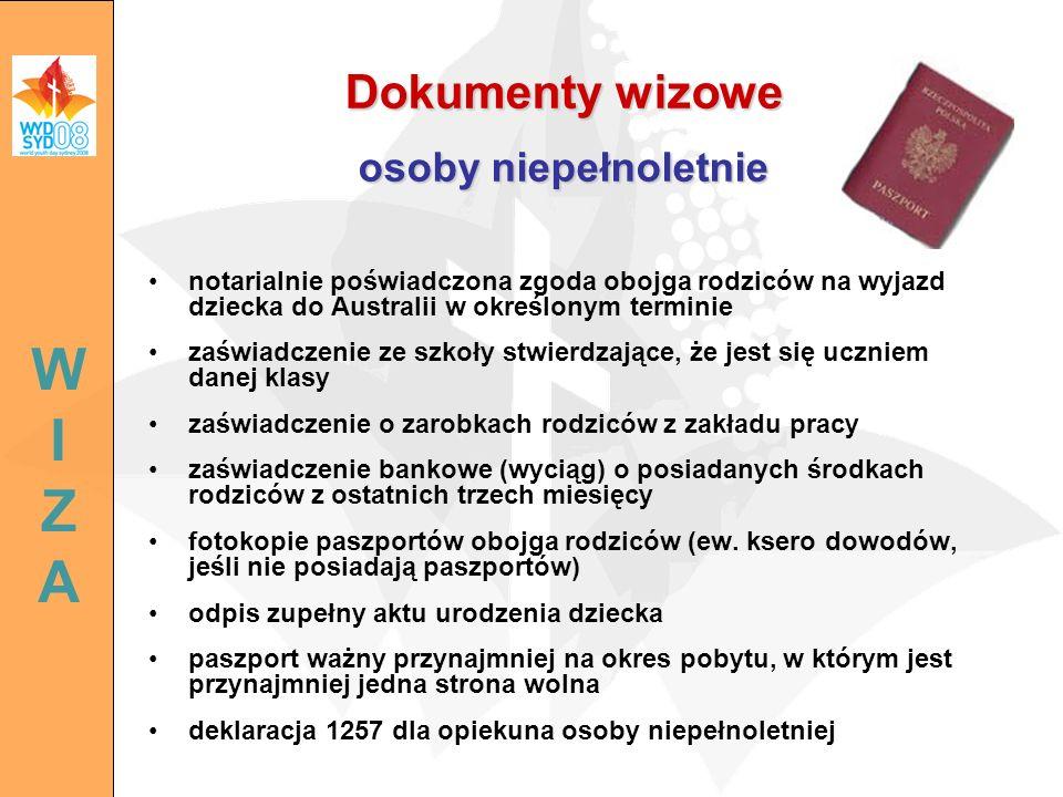 Dokumenty wizowe osoby niepełnoletnie