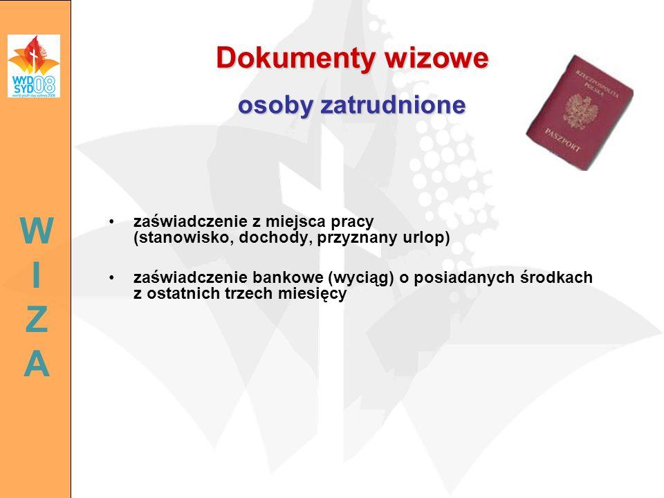Dokumenty wizowe osoby zatrudnione