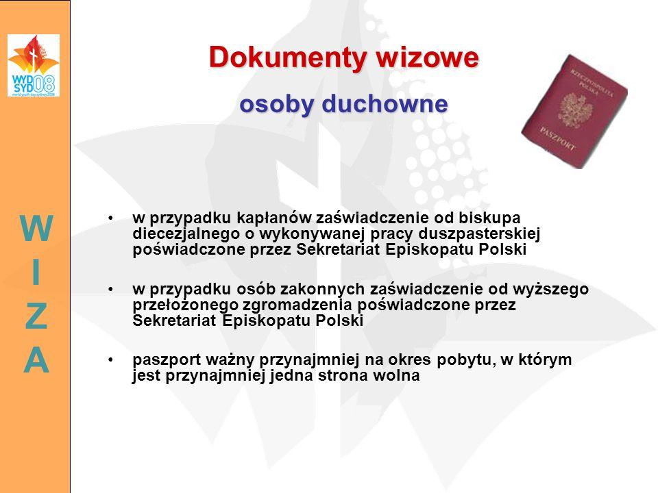 Dokumenty wizowe osoby duchowne